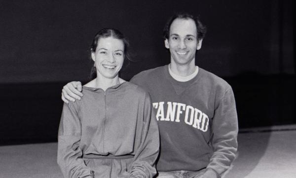 Des Moines Ballet in 1989: balletmistress Gigi Oerter and artistic director Kennet Oberly.